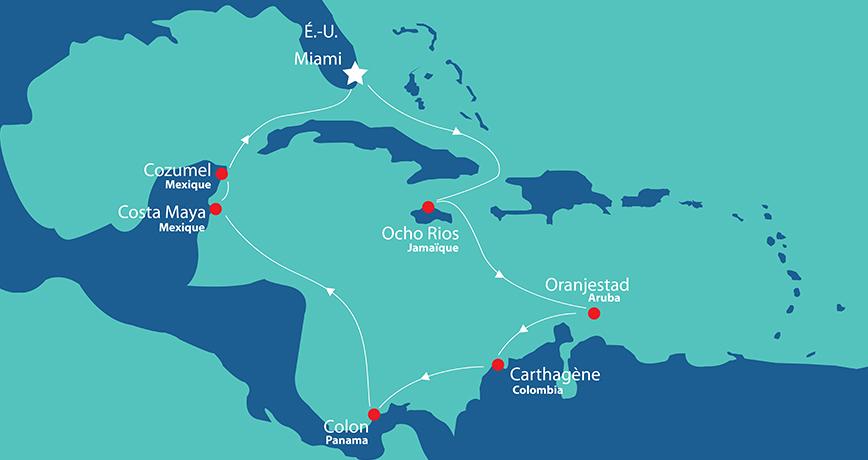 Itinerary - Caraïbes et Antilles 1